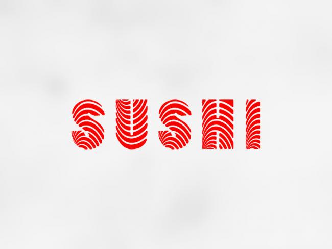 typographie maison handmade logo sushi