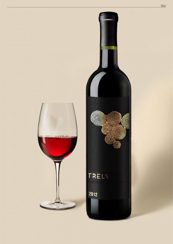 bouteille de vin étiquette dorure graphiste