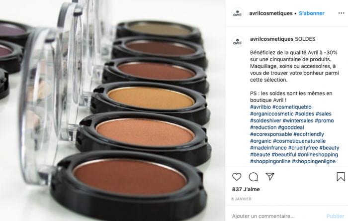 coupon de reduction pour les soldes instagram publicité