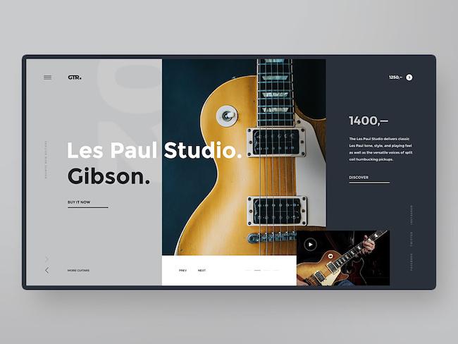 site web gris couleurs tendance