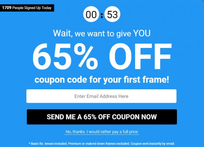 intention de sortie offre e-commerce