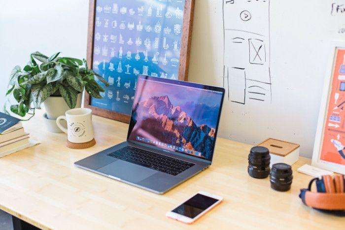 Freelance bueau ordonné productivité