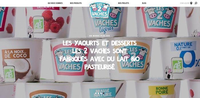 Green marketing gamme bio Les 2 Vaches