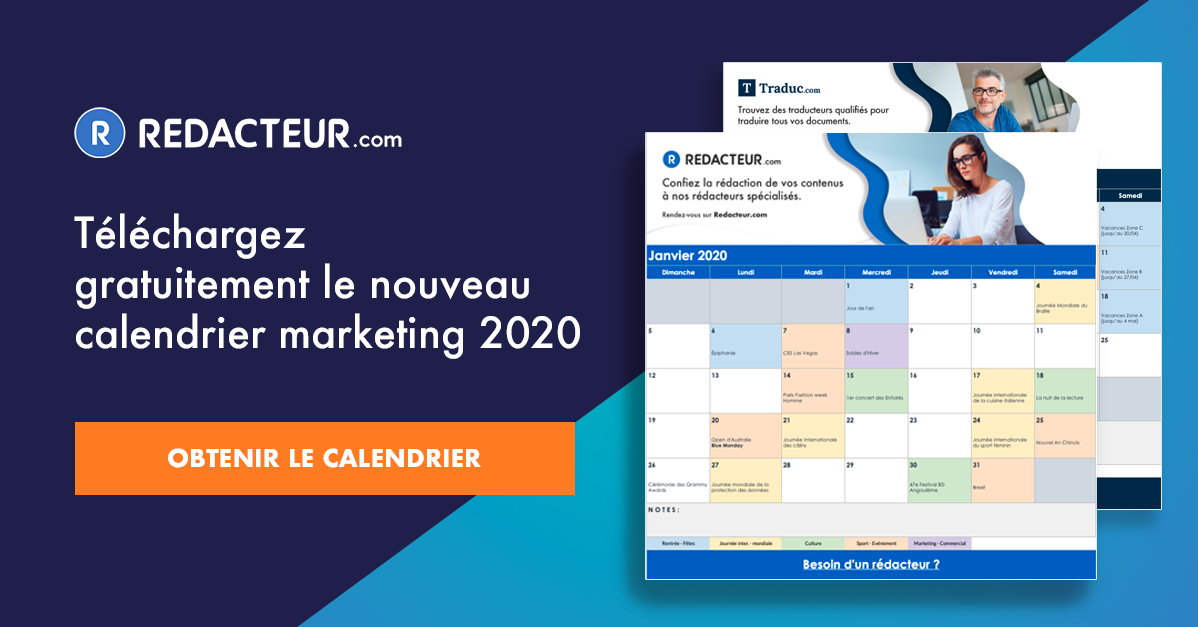 Calendrier marketing social media
