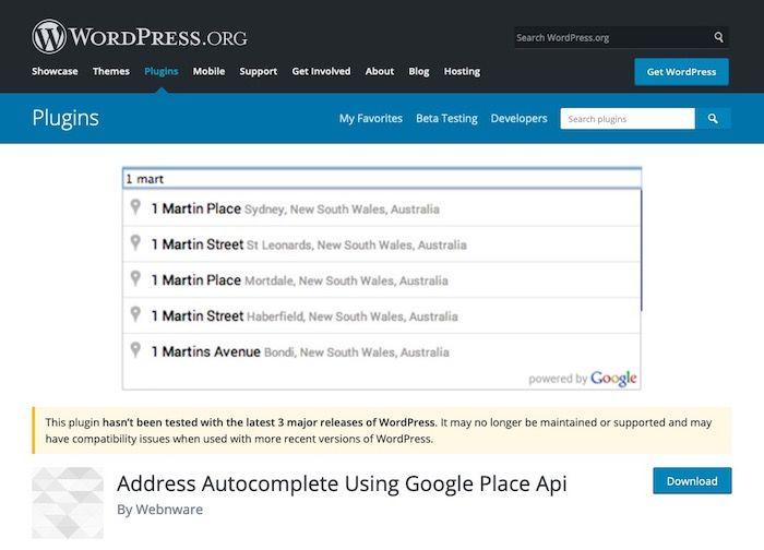 Address Autocomplete Using Google Place Api