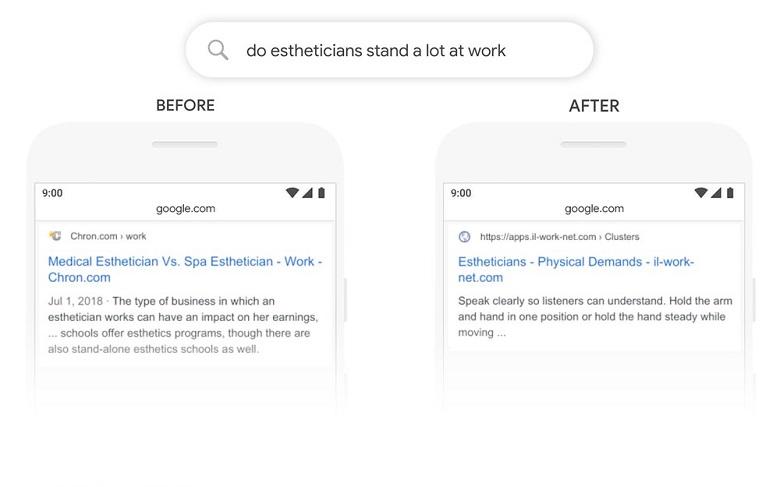 Google BERT recherche seo requête