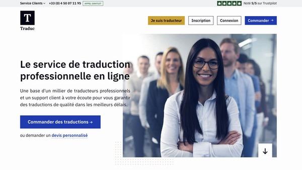 service de traduction en ligne