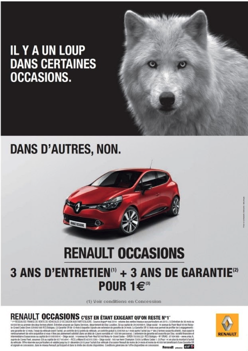 publicité Renault loup