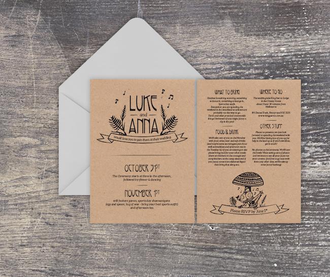 carte invitation wedding mariage line art tendance 2020 art graphiste