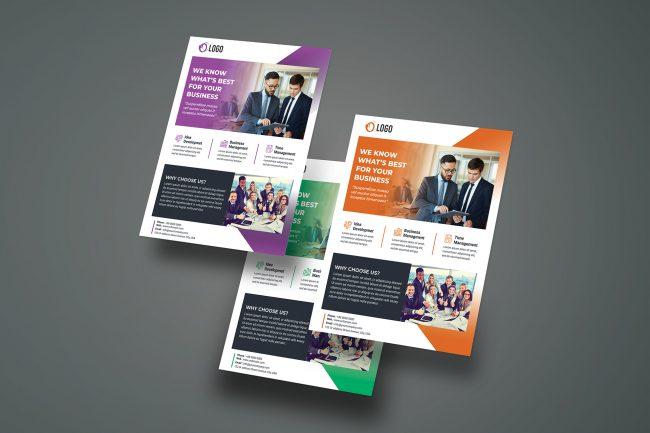 flyer brochure corporate example