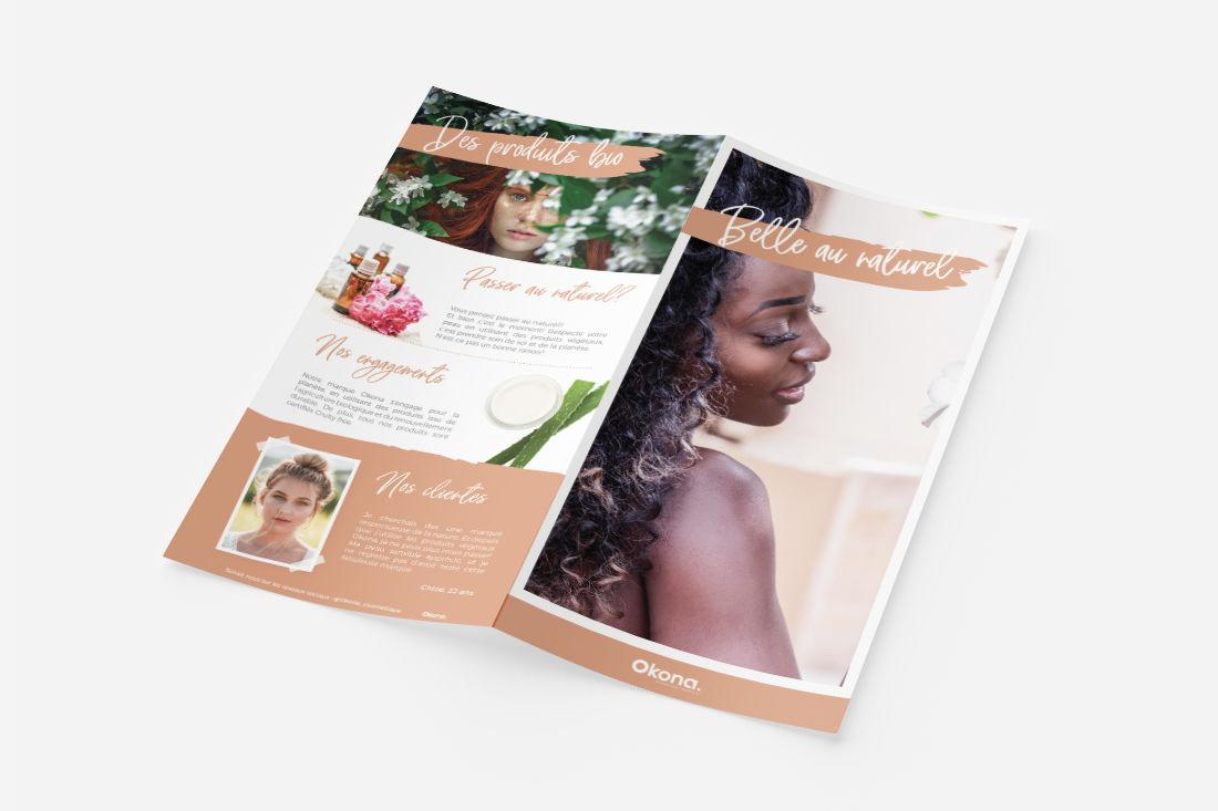 brochure flyer exemple graphiste
