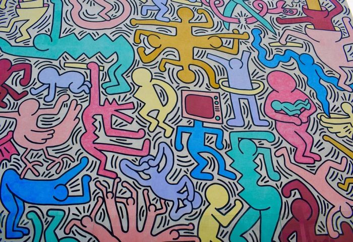 line art graphiste tendance 2020 keith haring