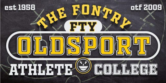 typographie sport vintage equipe sportive