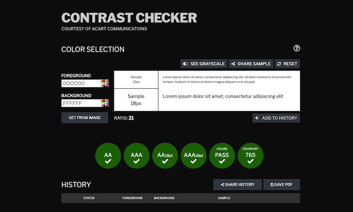 outil test accessibilité Contrast Checker
