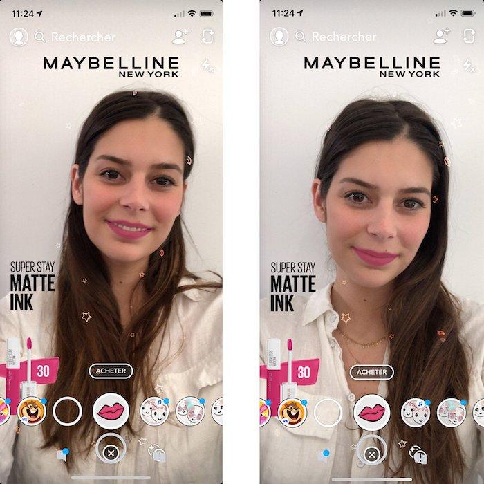L'Oréal filtre Snapchat