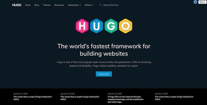 Hugo générateur site statique