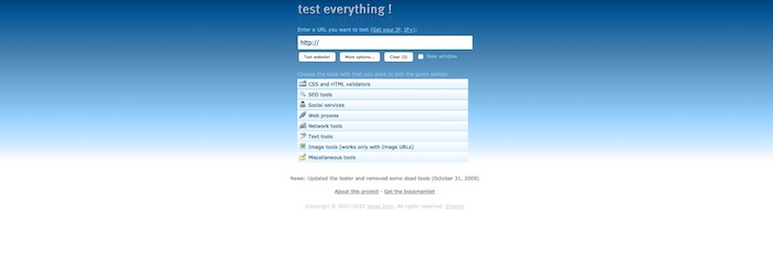 outil test accessibilité Test everything