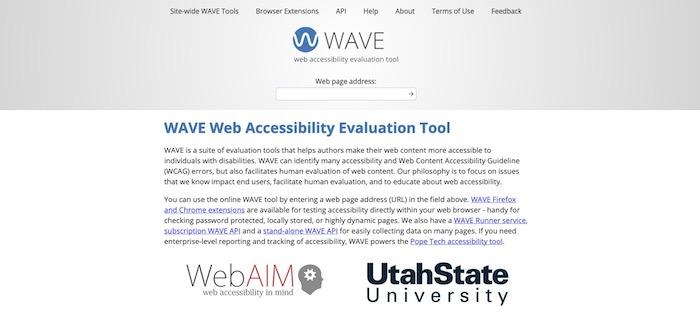 outil test accessibilité Wave