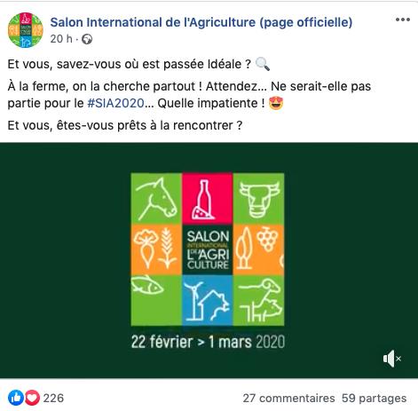 salon agriculture réseaux sociaux facebook Social Media