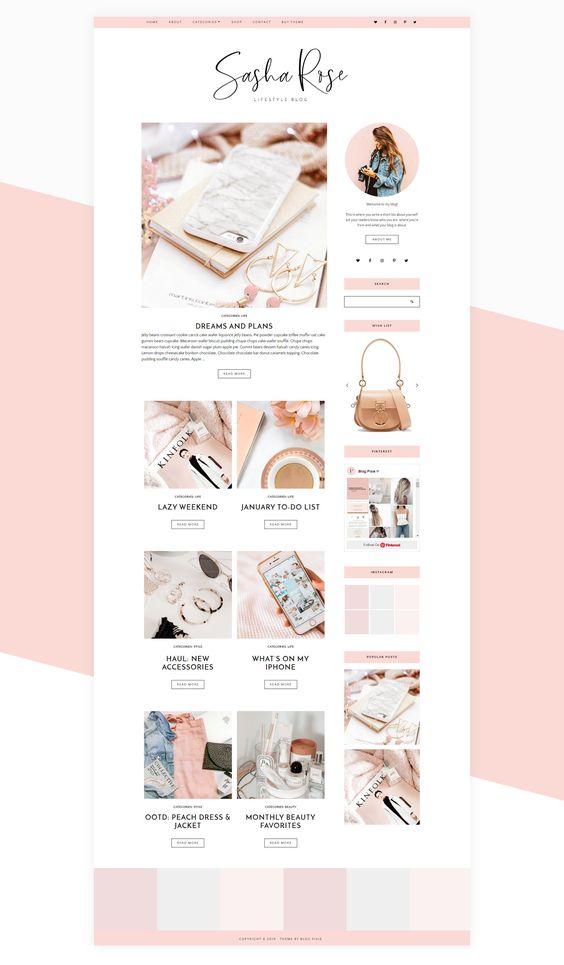 menu blog footer cat conception de blog