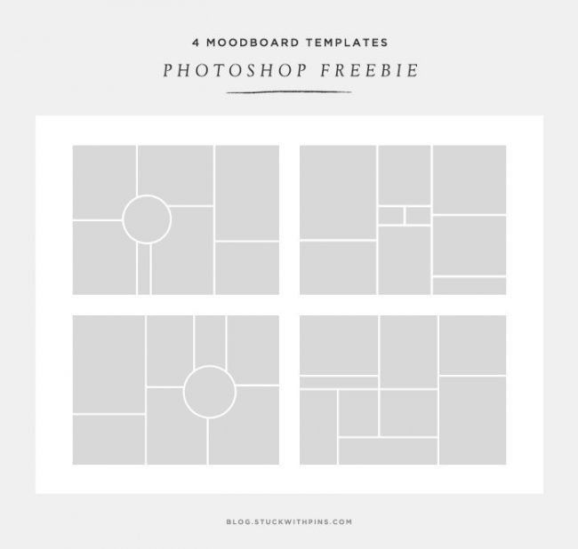 template photoshop free gratuit moodboard