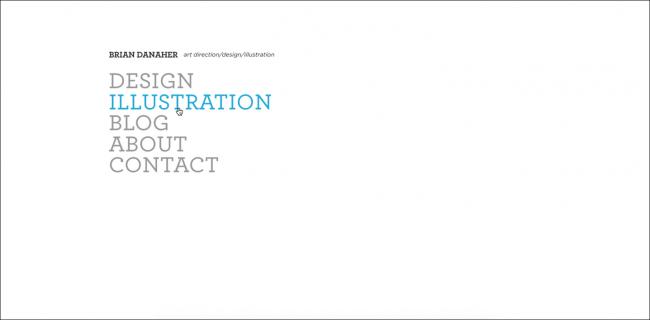 webdesign minimalist blanc