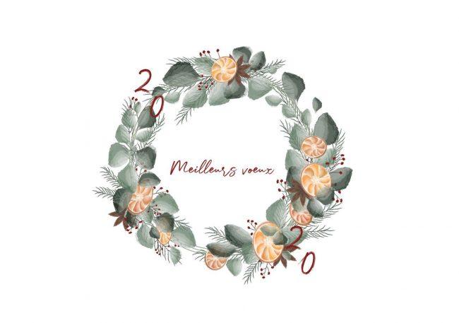 logo aquarelle voeux