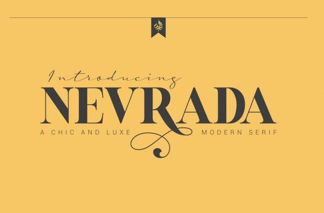 Nevada free font pour monogram monogramme