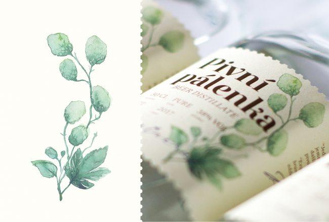 aquarelle étiquette de vin watercolor création