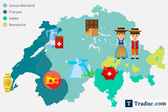 carte des langues Suisse