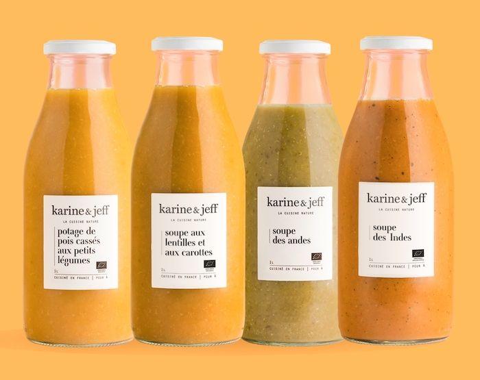 branding Karine & Jeff design minimaliste