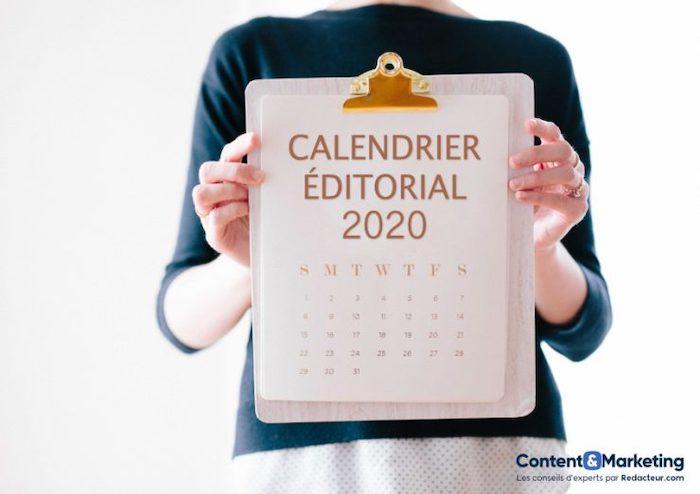 calendrier éditorial 2020 gratuit