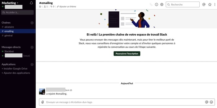 Slack, outil collaboratif