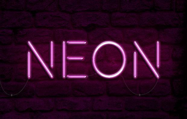 tuto Photoshop effet texte néon