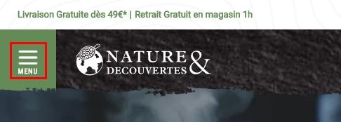 théorie de Gestalt appliquée au webdesign Nature & Découvertes
