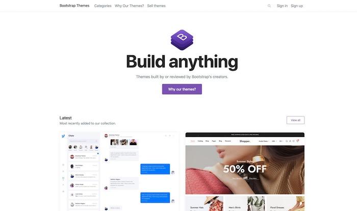 Bootrstrap Themes, site de templates bootstrap gratuits