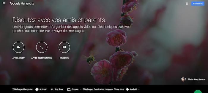 Google Hangouts appels vidéos