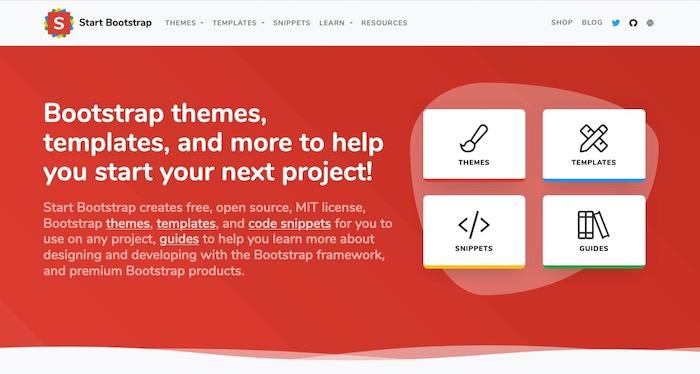 Stratbootstrap, site de templates bootstrap gratuits
