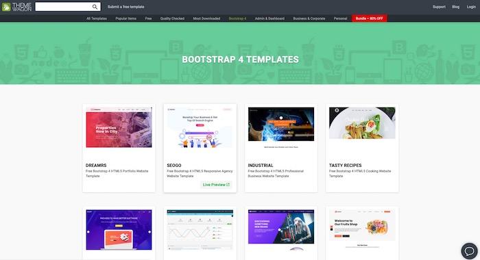 Theme Wagon, site de templates bootstrap gratuits