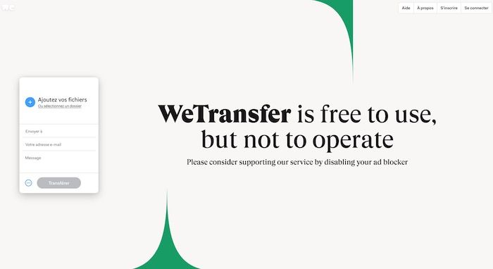 Wetransfer outil d'envoi de documents