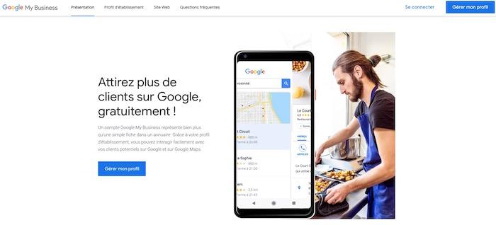 création compte Google my Business