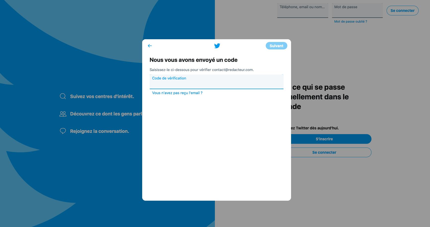 sécurité twitter