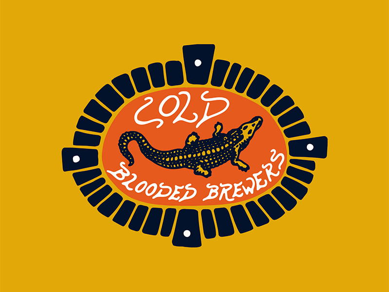 couleur orange crocodile logo