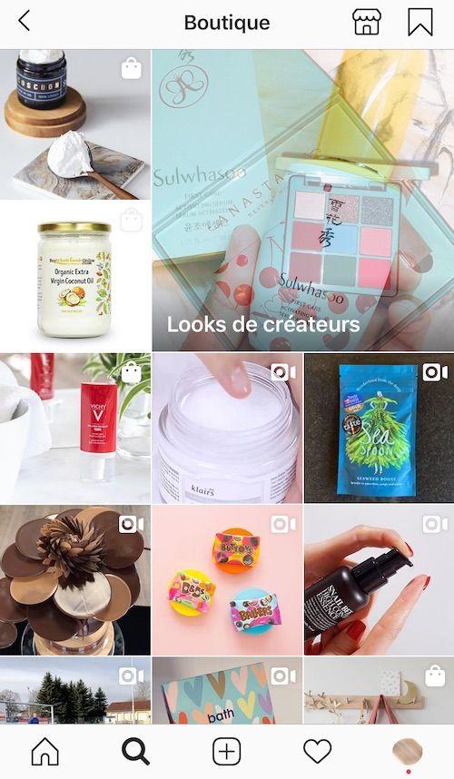 vendre sur Instagram avec l'onglet boutique