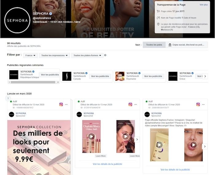 facebook ads observer stratégie concurrents