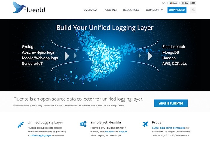 Fluentd outil open source analyse logs gratuit