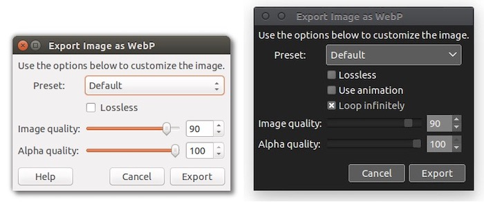 plugin GIMP outil gratuit conversion images WebP