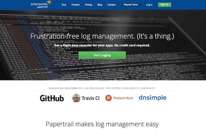 Papertrail outil analyse logs SEO
