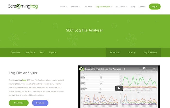 Screaming Frog outil analyse logs SEO