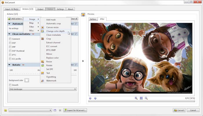 XnConvert outil gratuit conversion images WebP